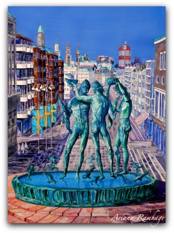 Göteborg Tre Poseidon Fine Art