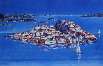 Norge Kragerø øya Fine Art