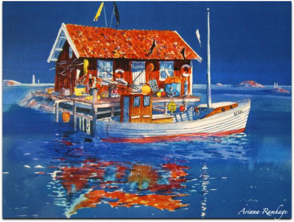 Fisketången eller Tången är en lugn del av Kungshamn. Det finns en liten ö där, med en stor fiskebod och en gammaldags fiskebåt förankrad framför.