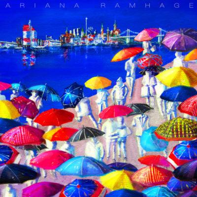 Göteborg och paraplyer. Regnet är en riktig Göteborgs specialité! Staden är ändock vacker med alla glada paraplyer uppfällda.