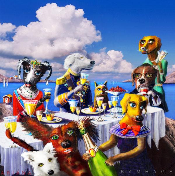 Hundar firar Midsommar
